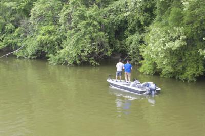 Fishing at Guist Creek